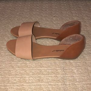 Nude and Brown Sandals